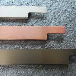 alu, kupfer (nicht lieferbar) und bronze eloxiert
