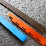 blau, orange und bronze eloxiert