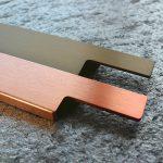 kupfer (nicht lieferbar) und bronze eloxiert