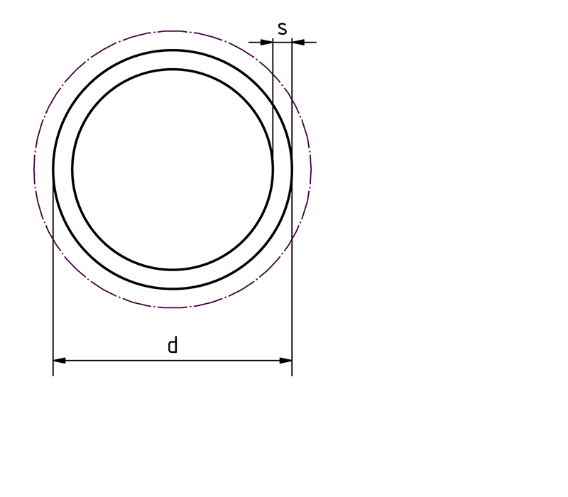 Alu Rundrohr Piktogramm bei Design MWM