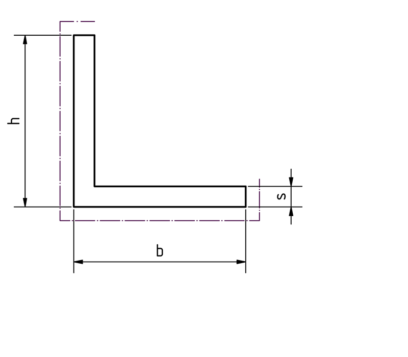Alu Winkel gleichschänklig Piktogram bei Design MWM